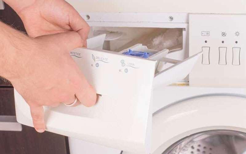 نحوه تمیز کردن جاپودری لباسشویی